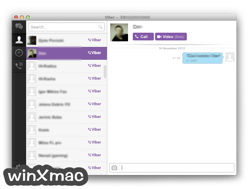 Viber for Mac Screenshot 1
