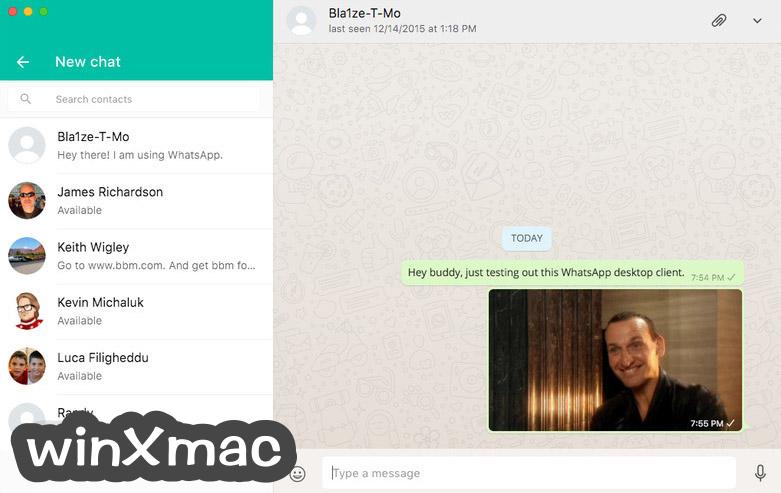 WhatsApp for Mac Screenshot 1