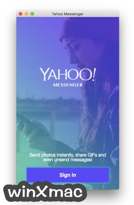 Yahoo Messenger for Mac Screenshot 1