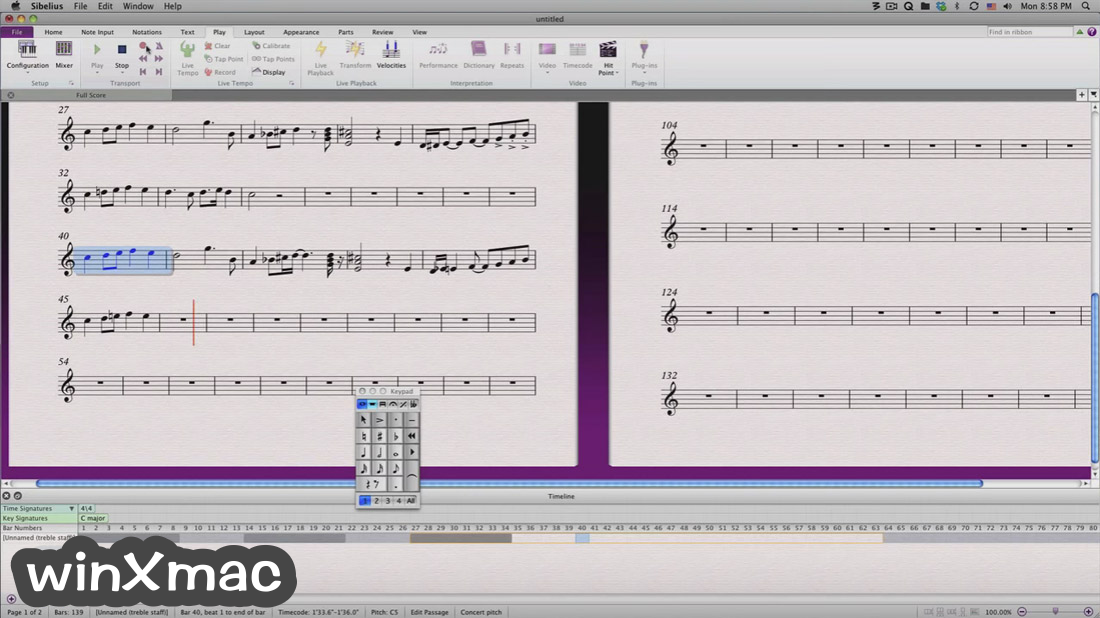 Sibelius for Mac Screenshot 2
