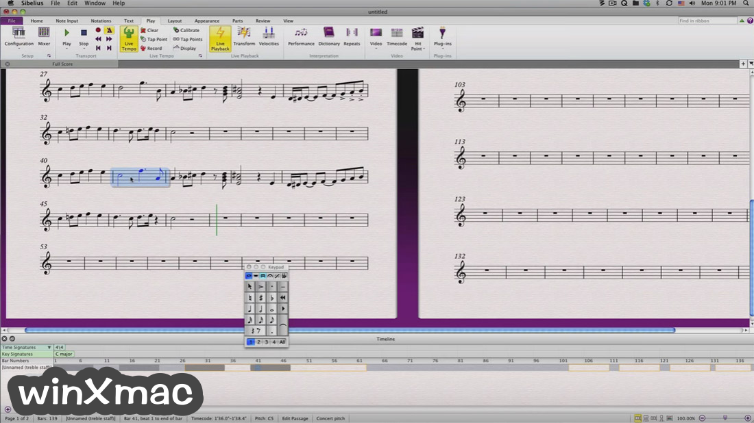 Sibelius for Mac Screenshot 3