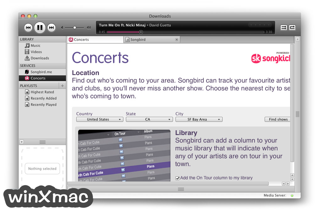 Songbird for Mac Screenshot 2