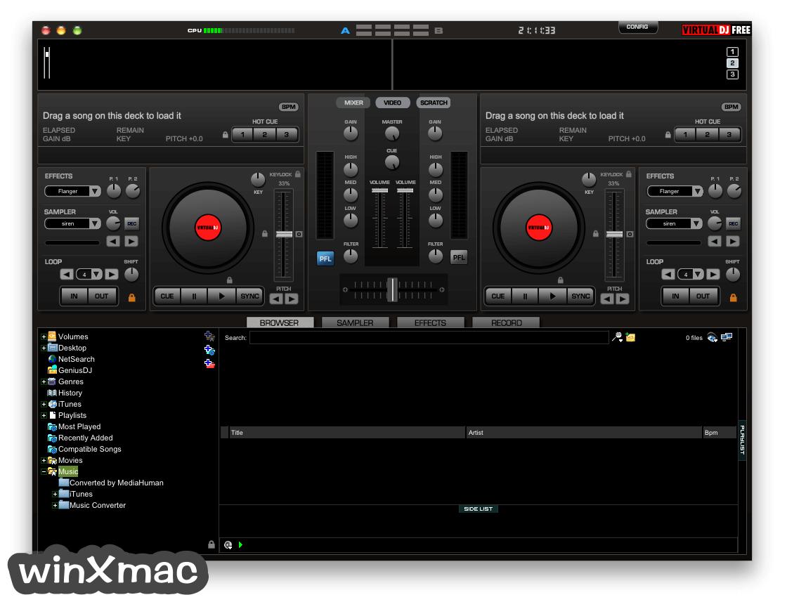 Virtual DJ for Mac Screenshot 1