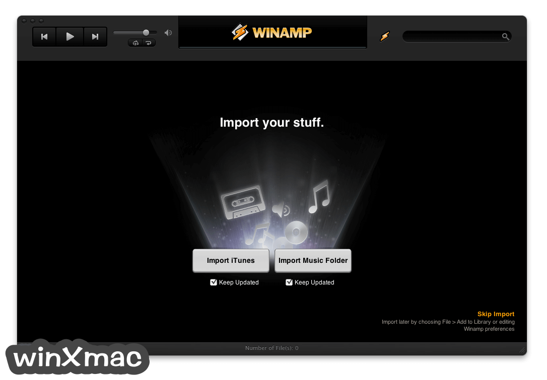 Winamp for Mac Screenshot 1