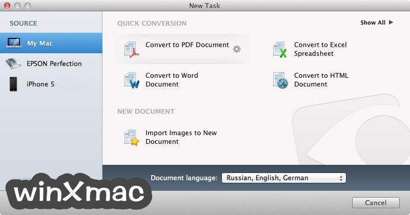 ABBYY FineReader Pro for Mac Screenshot 1