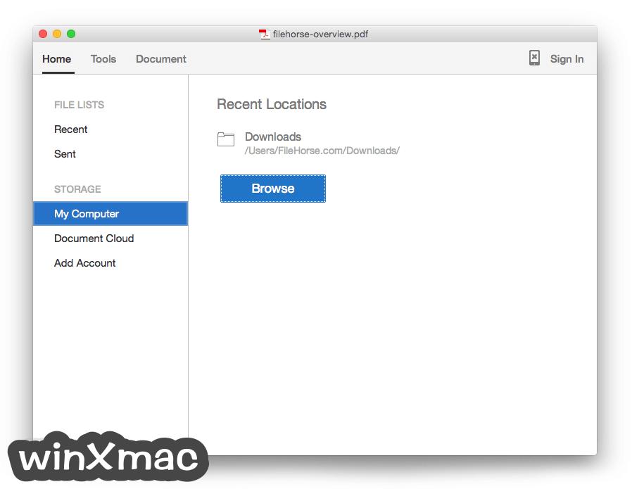 Adobe Acrobat Reader DC for Mac Screenshot 1