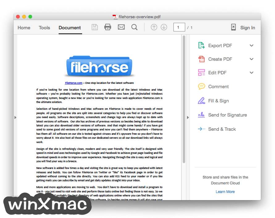 Adobe Acrobat Reader DC for Mac Screenshot 3