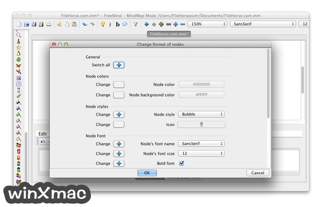 FreeMind for Mac Screenshot 2