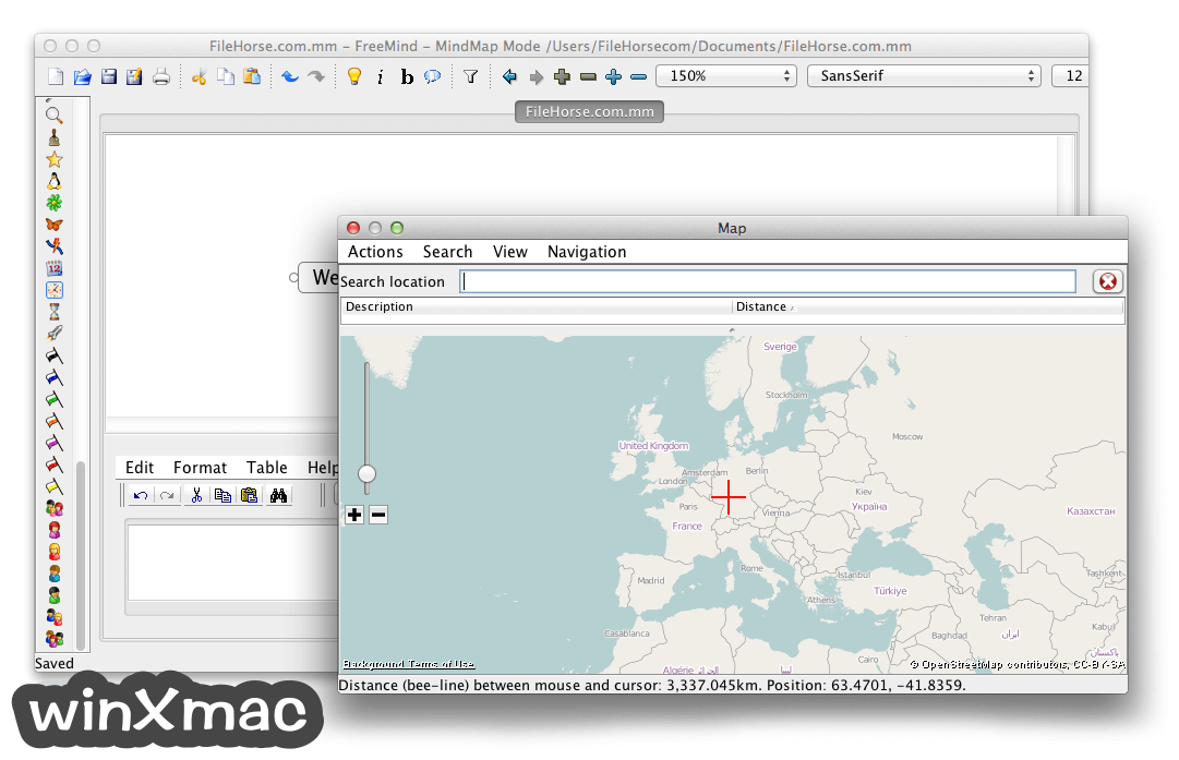 FreeMind for Mac Screenshot 3