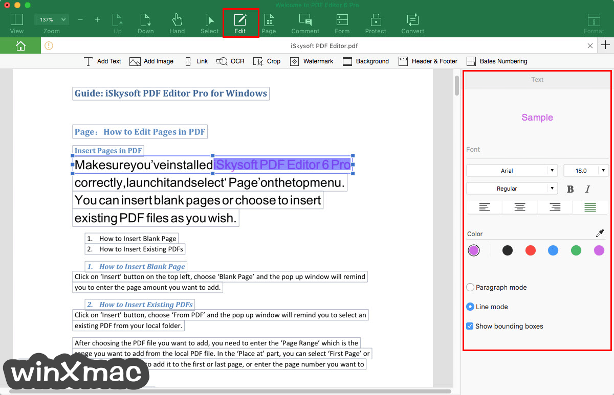 iSkysoft PDF Editor Pro for Mac Screenshot 2