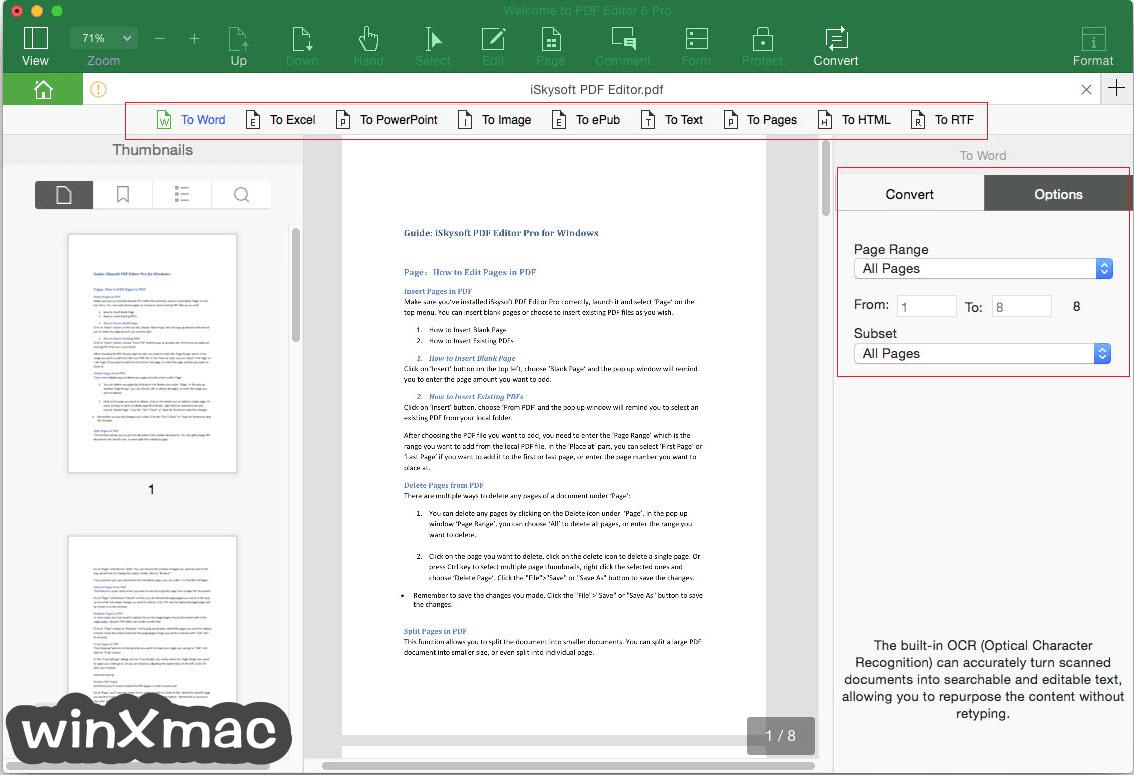 iSkysoft PDF Editor Pro for Mac Screenshot 3