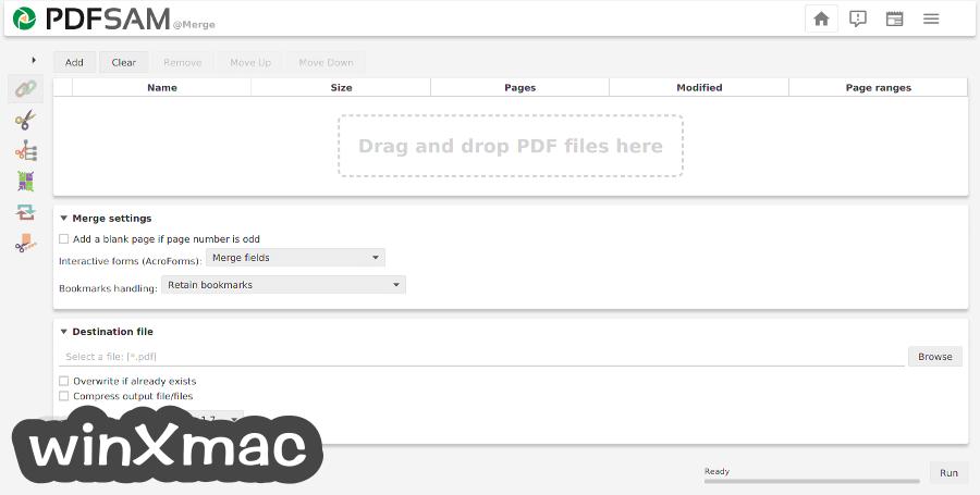 PDFsam Basic for Mac Screenshot 1
