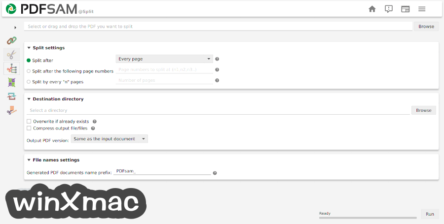 PDFsam Basic for Mac Screenshot 2