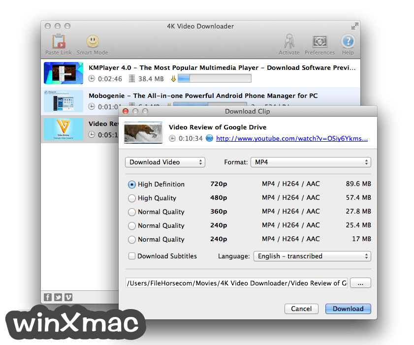 4K Video Downloader for Mac Screenshot 2