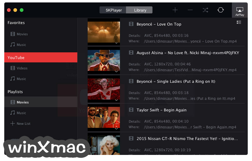 5KPlayer for Mac Screenshot 2