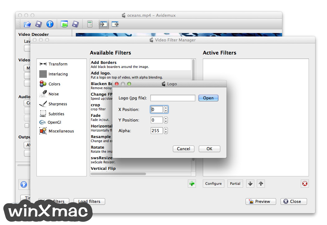 Avidemux for Mac Screenshot 2