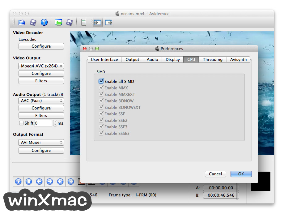 Avidemux for Mac Screenshot 5