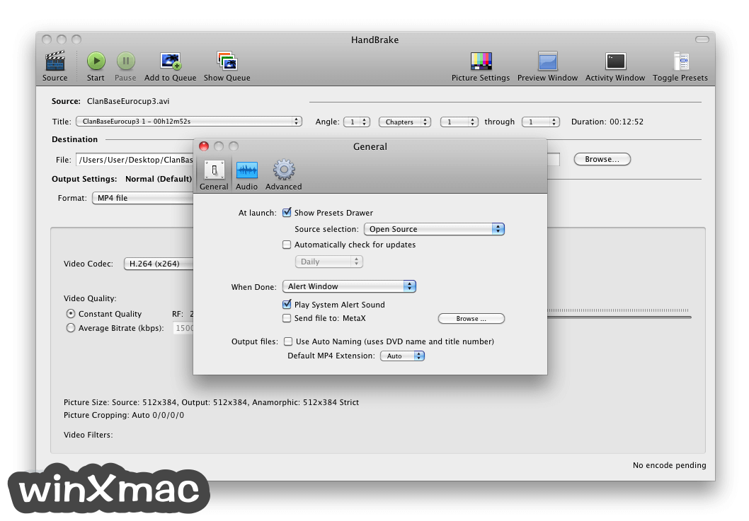 HandBrake for Mac Screenshot 2
