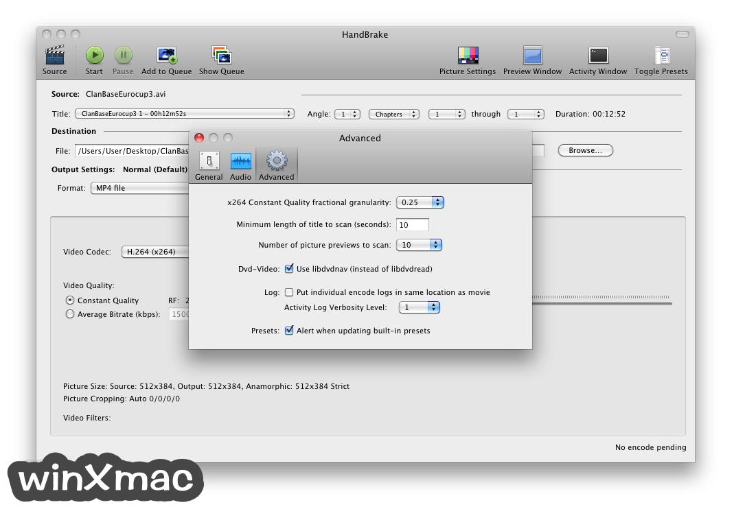 HandBrake for Mac Screenshot 3
