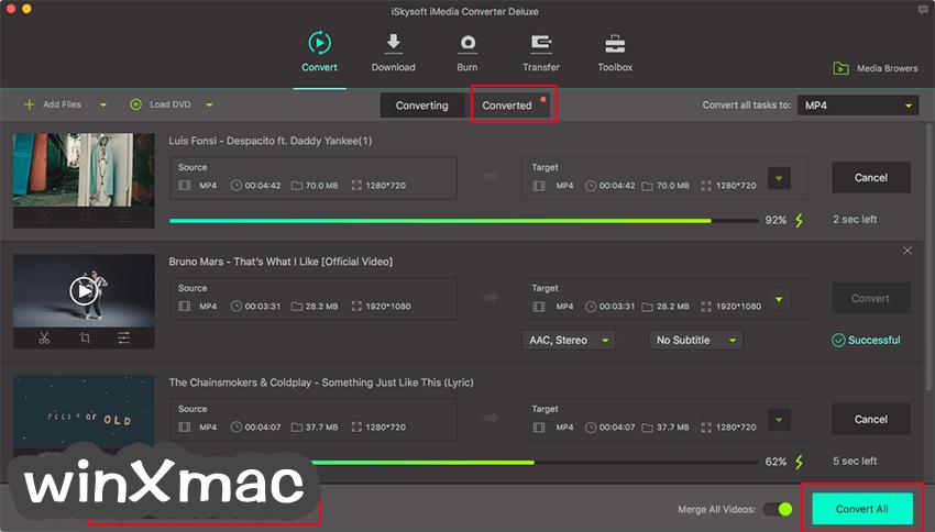 iSkysoft iMedia Converter Deluxe for Mac Screenshot 1