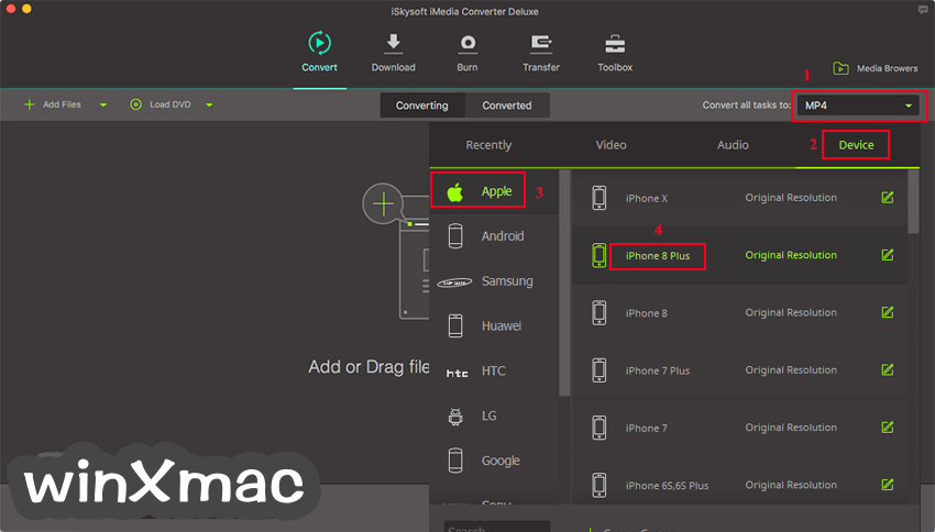 iSkysoft iMedia Converter Deluxe for Mac Screenshot 2