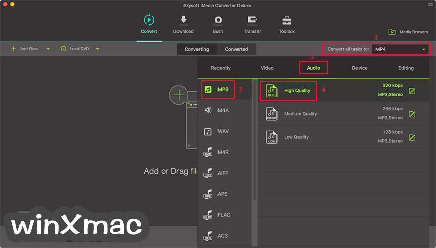 iSkysoft iMedia Converter Deluxe for Mac Screenshot 3