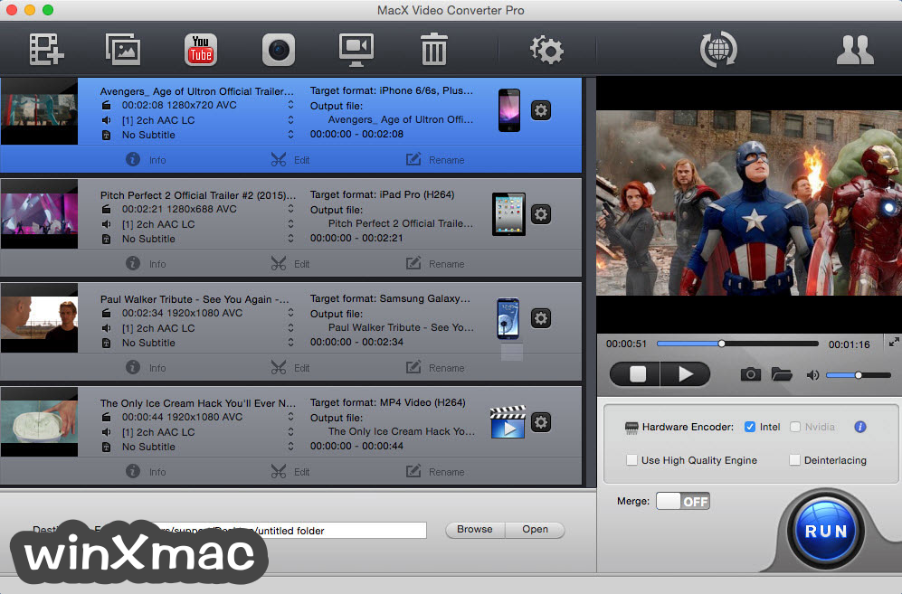 MacX Video Converter Pro Screenshot 1