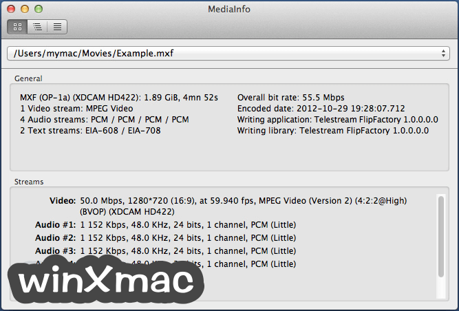 MediaInfo for Mac Screenshot 1