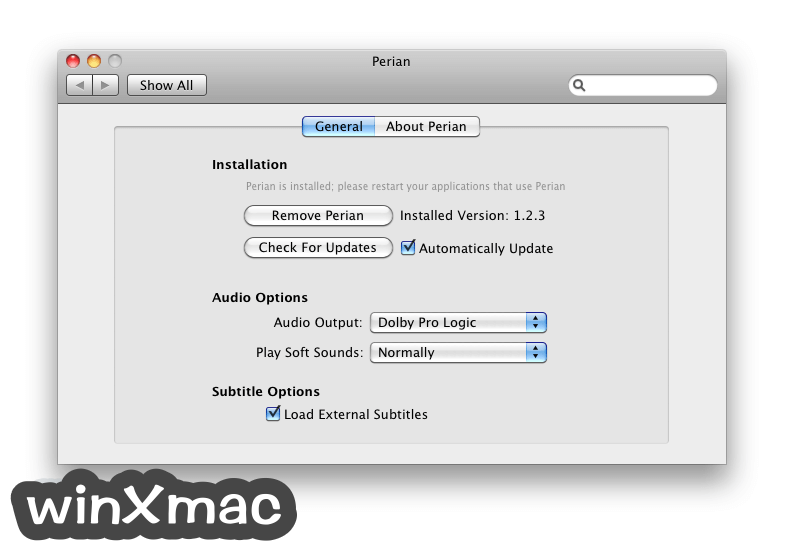 Perian for Mac Screenshot 1