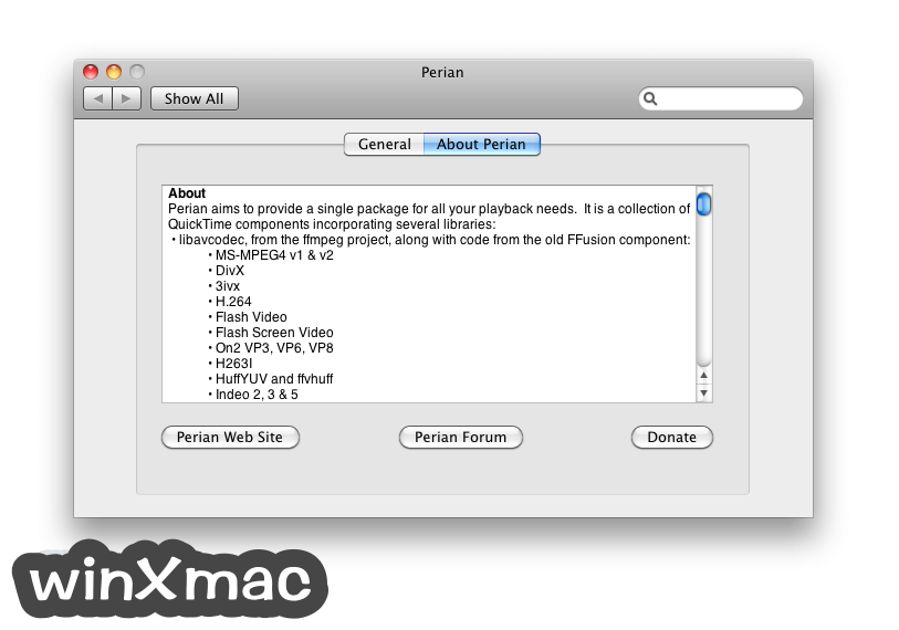 Perian for Mac Screenshot 2