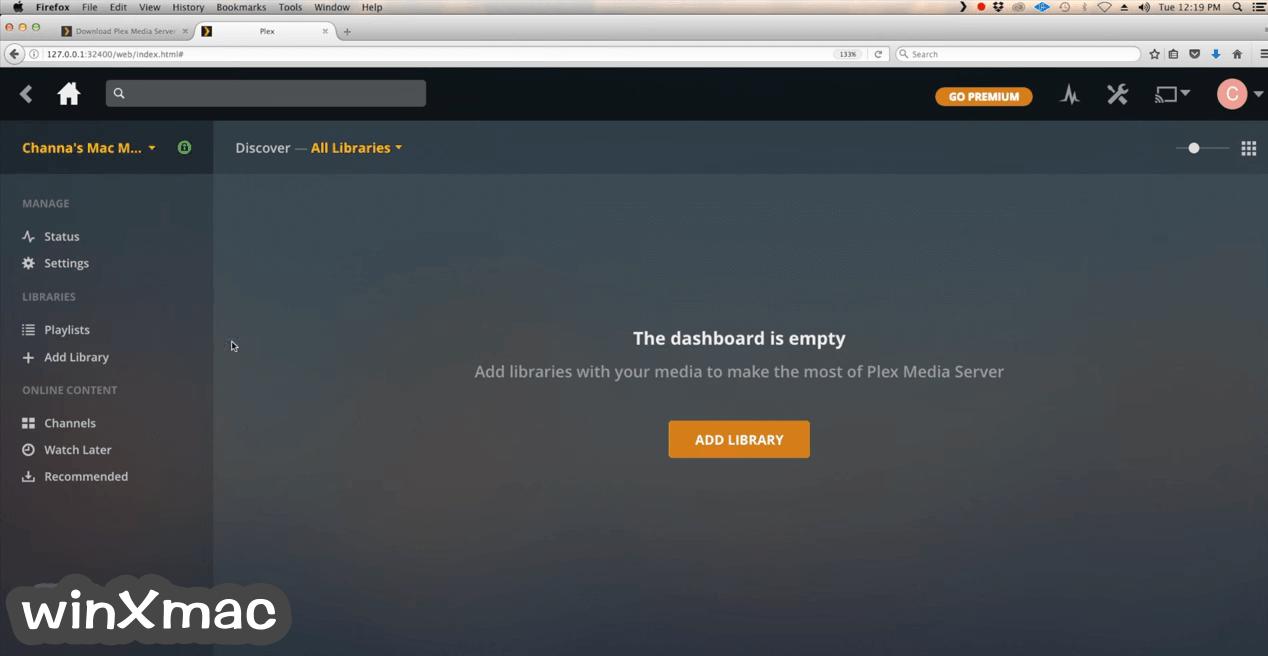 Plex Media Server for Mac Screenshot 1