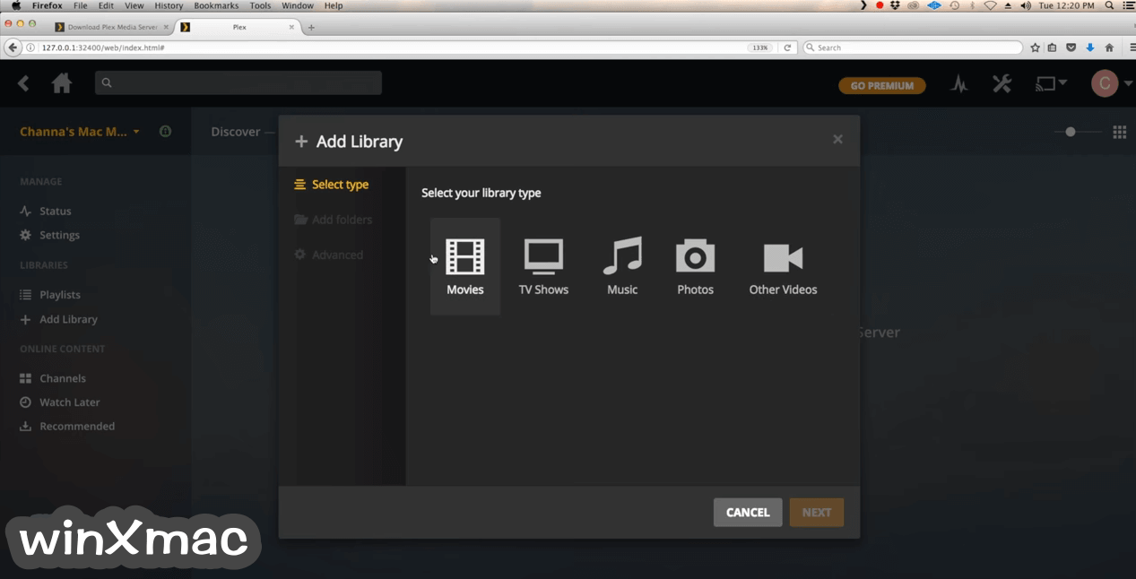 Plex Media Server for Mac Screenshot 2