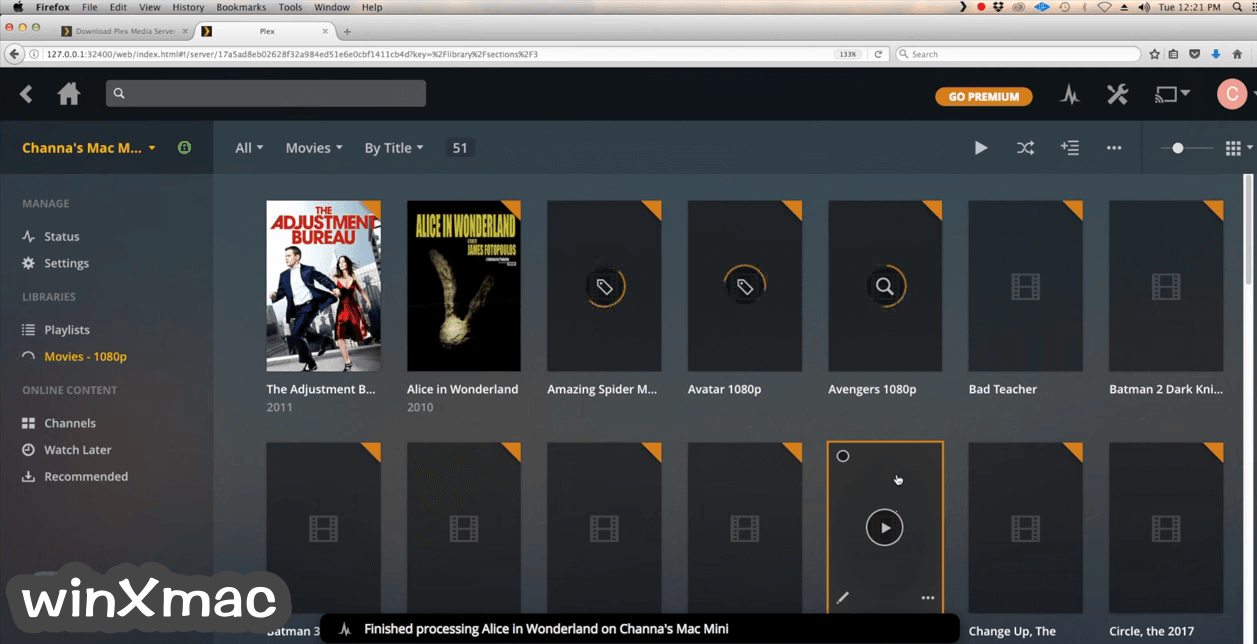 Plex Media Server for Mac Screenshot 3