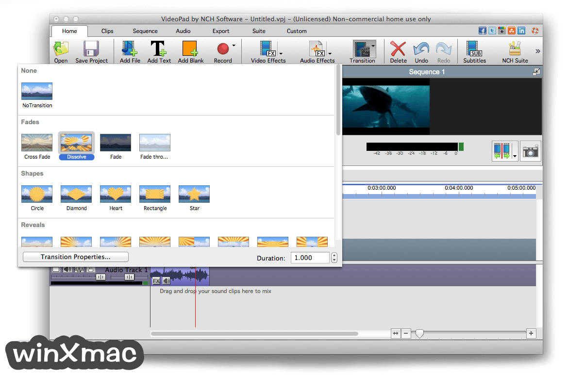 VideoPad Video Editor for Mac Screenshot 2