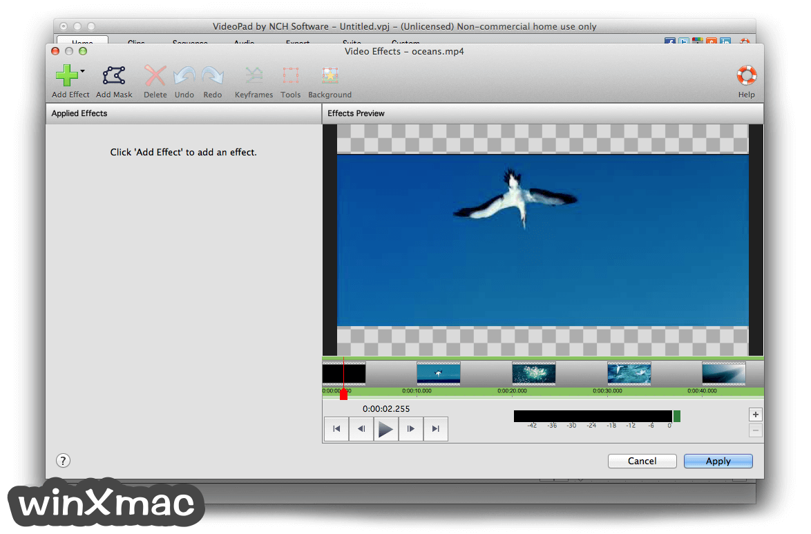VideoPad Video Editor for Mac Screenshot 3