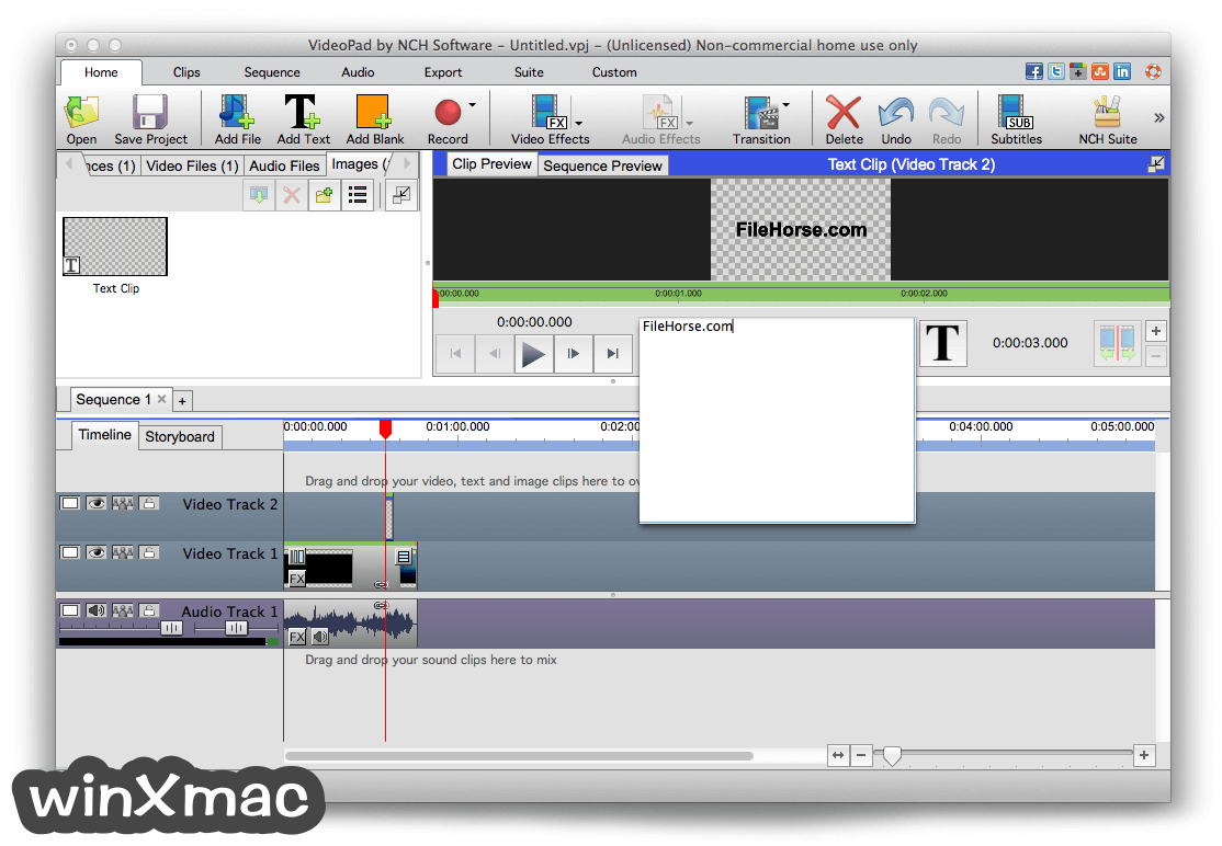 VideoPad Video Editor for Mac Screenshot 4