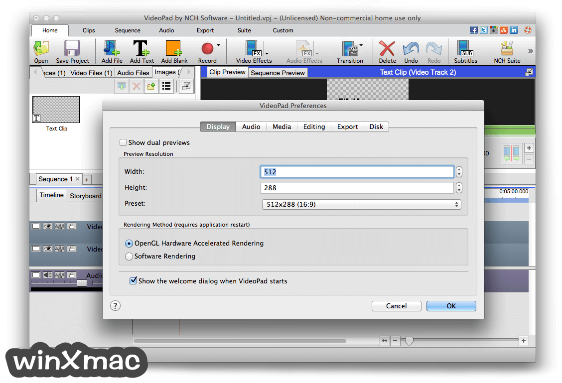 VideoPad Video Editor for Mac Screenshot 5
