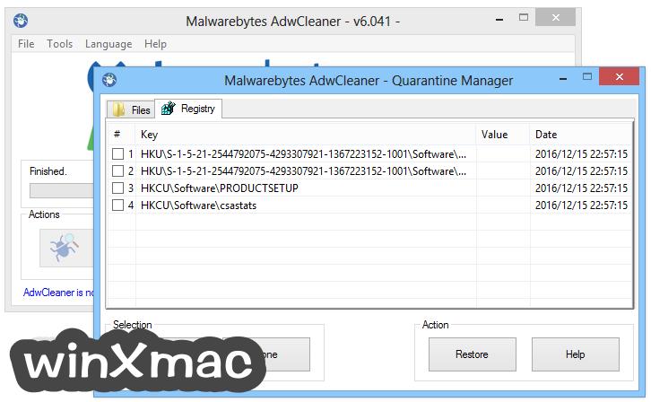 AdwCleaner Screenshot 4