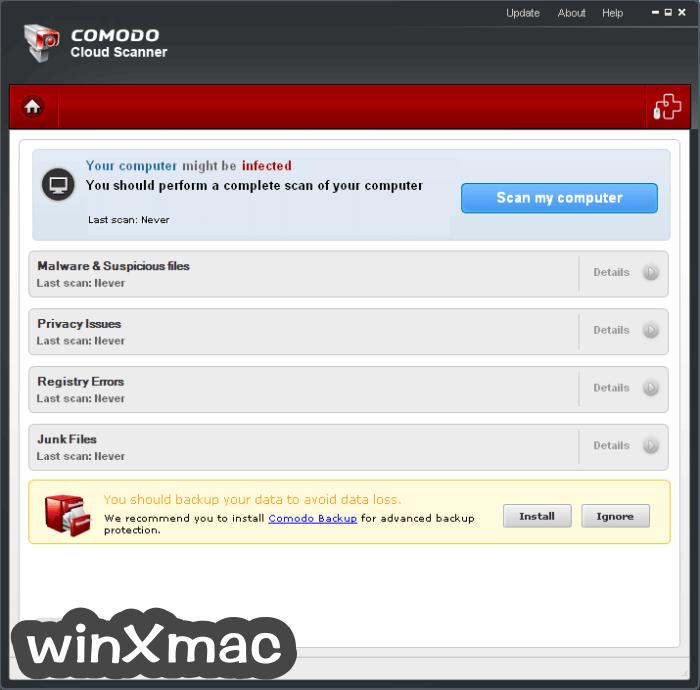 Comodo Cloud Scanner Screenshot 1