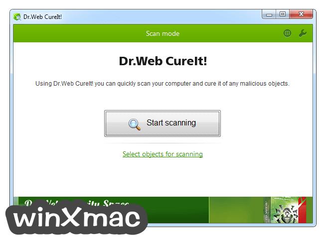 Dr.Web CureIt! Screenshot 1