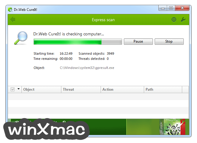 Dr.Web CureIt! Screenshot 3