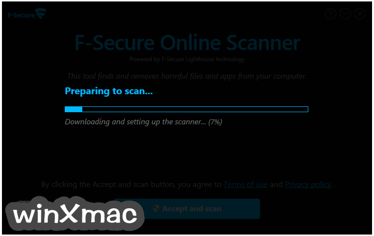 F-Secure Online Scanner Screenshot 2