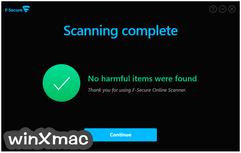 F-Secure Online Scanner Screenshot 4