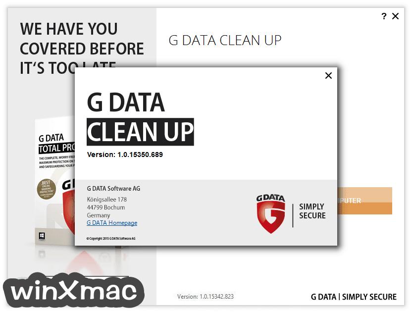 G DATA Clean Up Screenshot 2
