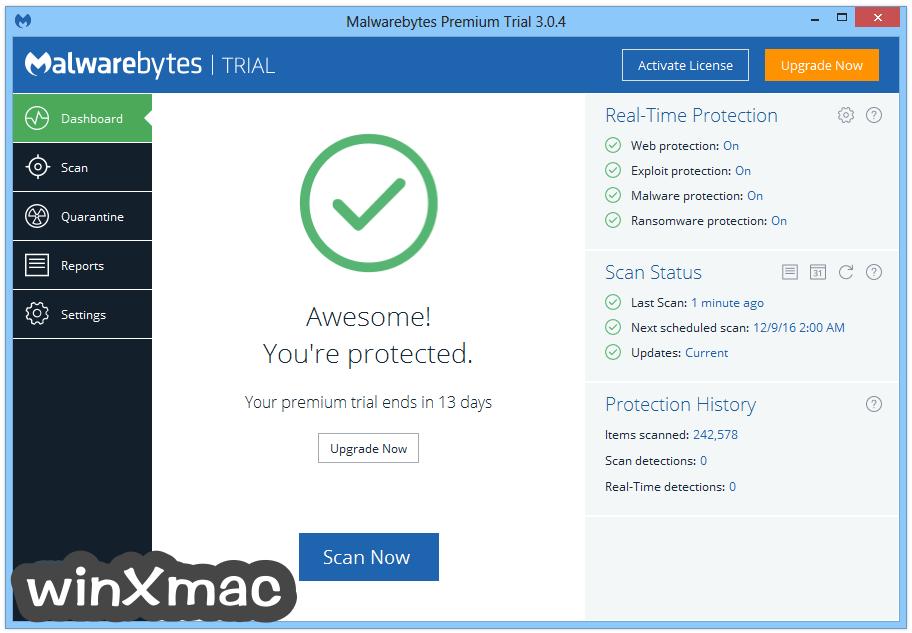 Malwarebytes Anti-Malware Screenshot 1