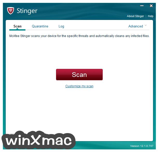 McAfee Stinger (64-bit) Screenshot 1