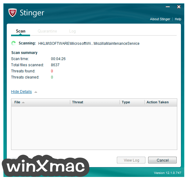 McAfee Stinger (64-bit) Screenshot 2