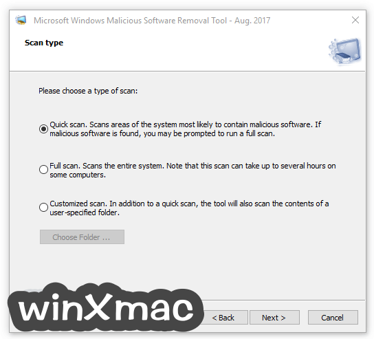 Microsoft Malicious Software Removal Tool (64-bit) Screenshot 2