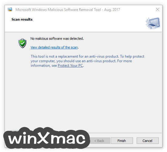 Microsoft Malicious Software Removal Tool (64-bit) Screenshot 4