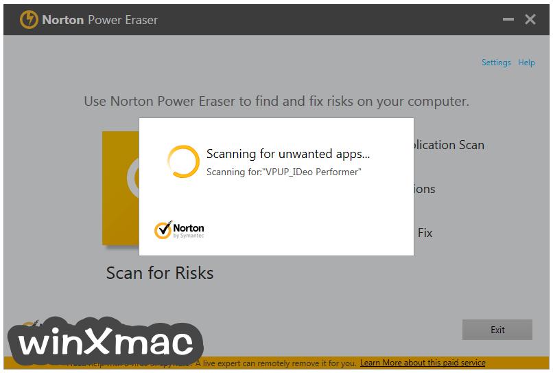 Norton Power Eraser Screenshot 2
